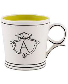 CLOSEOUT! Home Essentials Molly Hatch Monogram Mug, Letter A