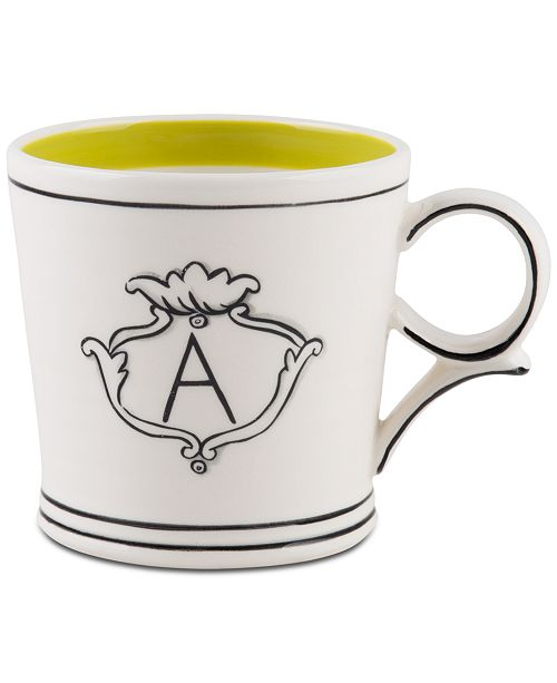 Home Essentials CLOSEOUT! Molly Hatch Monogram Mug, Letter A