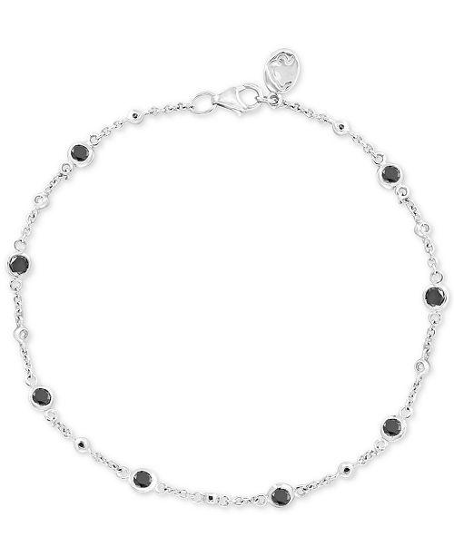 EFFY Collection EFFY® Diamond Bezel Link Bracelet (7/8 ct. t.w.) in 14k White Gold