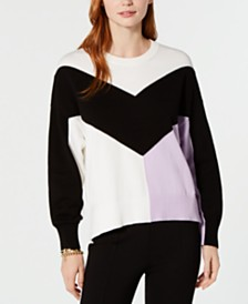 Tommy Hilfiger Cotton Chevron Sweater, Created for Macy's