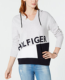 Tommy Hilfiger Hooded Logo-Print Sweatshirt, Created for Macy's
