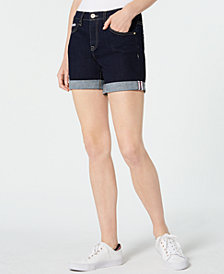 Tommy Hilfiger Rolled-Cuff Denim Shorts, Created for Macy's