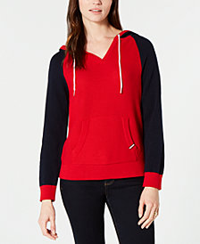 Tommy Hilfiger Cotton Colorblocked Hoodie, Created for Macy's