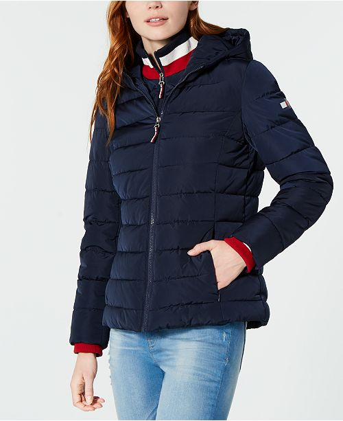 40924f5c7 ... Tommy Hilfiger Knit Collar Hooded Puffer Jacket, Created for Macy's ...