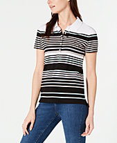 Tommy Hilfiger Striped Polo Shirt, Created for Macy s dc0e617b6314