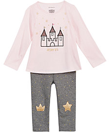 First Impressions Baby Girls Princess Dreams Top & Printed Leggings Separates, Created for Macy's