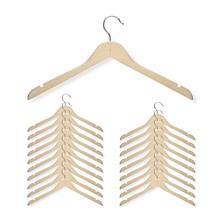 20-Pc. Basic Shirt Hanger, Maple Finish