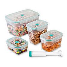 Honey Can Do Vac N Save 9-Pc. Rectangular Food Storage Set