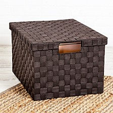 Large Woven File Box