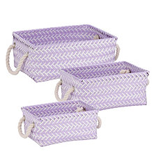Honey Can Do Zig Zag Set of 3 Storage Baskets