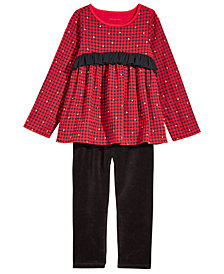 First Impressions Baby Girls Holiday Plaid Tunic & Leggings Separates, Created for Macy's