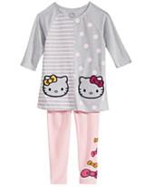 Hello Kitty Little Girls Dot-Stripe Tunic   Leggings Set 8dae213583c2c