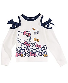 Hello Kitty Toddler Girls Bow-Trim Cold Shoulder Top