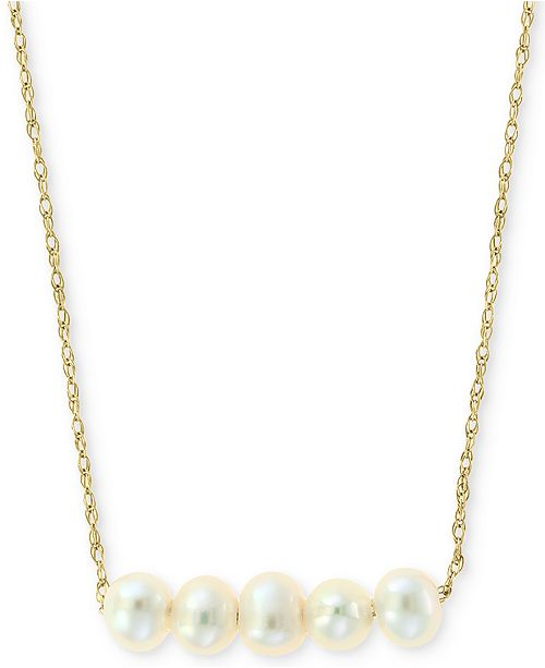 """EFFY Collection Cultured Freshwater Pearl (3-1/2mm) Collar Necklace in 14k Gold, 16"""" + 2"""" extender"""