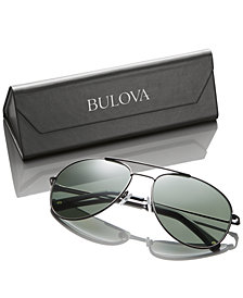 Receive a pair of FREE Bulova Black Aviator Sun Glasses with the purchase of select Bulova watches $350 or more while supplies last.