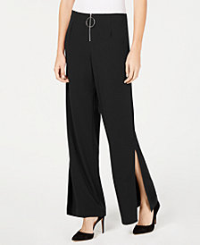 NY Collection Petite Wide Split-Leg Pants