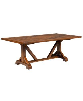 Mandara Expandable Dining Trestle Table Furniture Macys