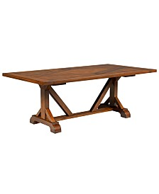 Mandara Expandable Dining Trestle Table with Hidden Storage
