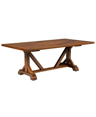mandara expandable dining trestle table - furniture - macy's