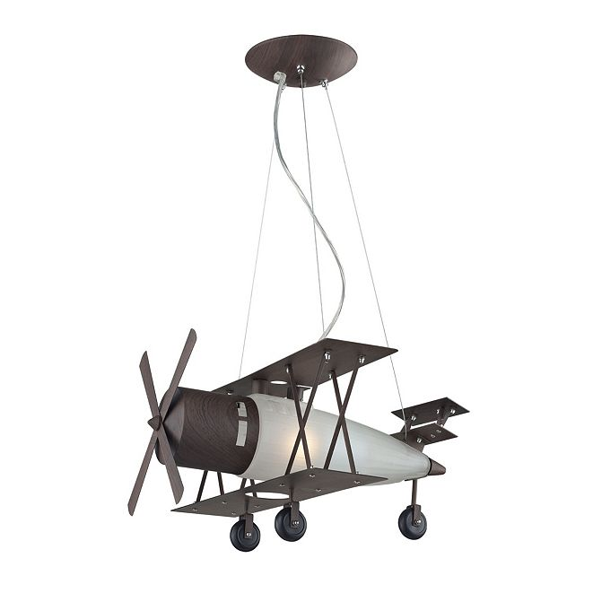 ELK Lighting Novelty Collection Bi-Plane In A Walnut Fin