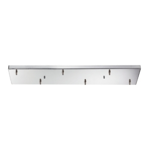 6 Light Rectangular Pan in Chrome