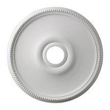 "Brittany Medallion 19"" In White Finish"