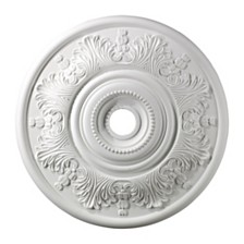 "Lauerdale Medallion 30"" In White Finish"