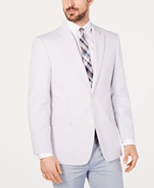 Tommy Hilfiger Men's Modern-Fit TH Flex Stretch  Seersucker Stripe Sport Coat