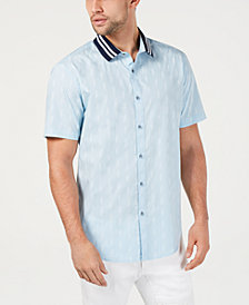 I.N.C. Men's Text-Pattern Shirt, Created for Macy's