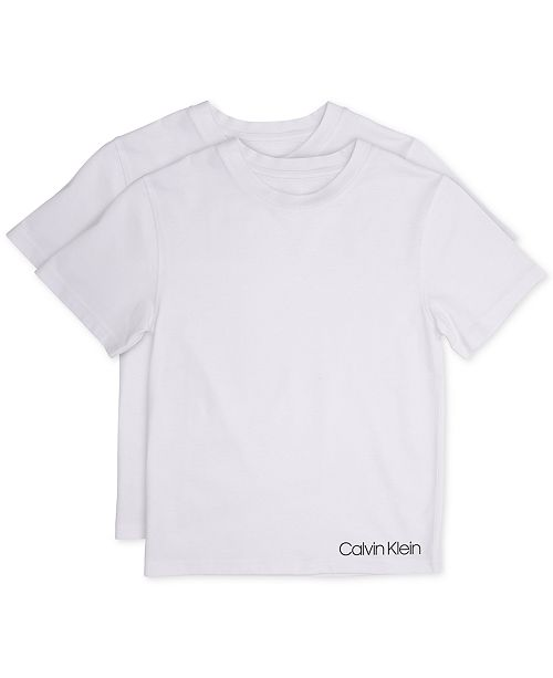 Calvin Klein Little and Big Boys' T-Shirt, 2-Pack
