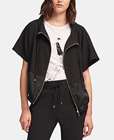 DKNY Zippered Short-Sleeve Jacket, Created for Macy's