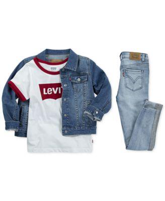 Little Girls Snap Button-Front Denim Jacket