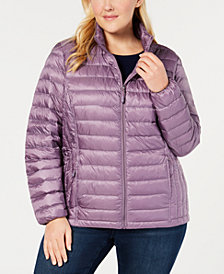 32 Degrees Plus Size Packable Puffer Down Coat