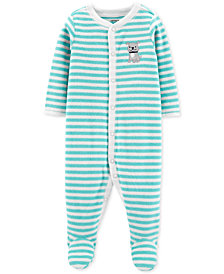 Carter's Baby Boys 1-Pc. Striped Footed Pajamas