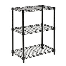 Honey Can Do 3-Tier Heavy Duty Adjustable Shelving Unit, Black