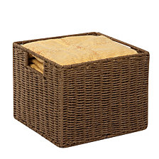 Honey Can Do Parchment Cord Storage Basket