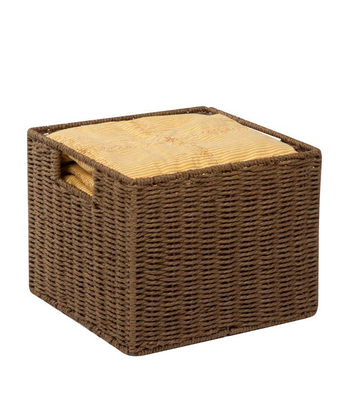 Honey Can Do - Parchment Cord Storage Basket