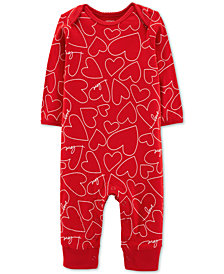 Carter's Baby Girls Hearts Cotton Jumpsuit