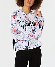 Calvin Klein Performance Printed Varsity Stripe-Hoodie