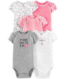 Carter's Baby Girls 5-Pk. Dinosaur Bodysuits
