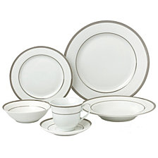 Lorren Home Trends Ashley 24-Pc. Dinnerware Set, Service for 4
