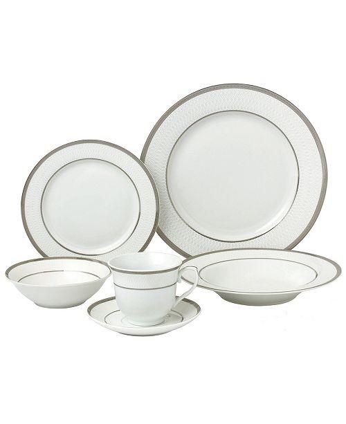 Lorren Home Trends Ashley 24-Pc. Dinnerware Set, Service for 4