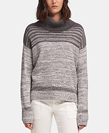 DKNY Marled-Striped Cowlneck Sweater, Created for Macy's