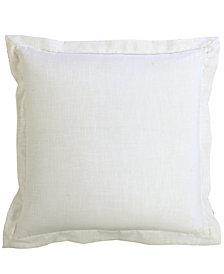 White Linen 27X27 Euro Sham