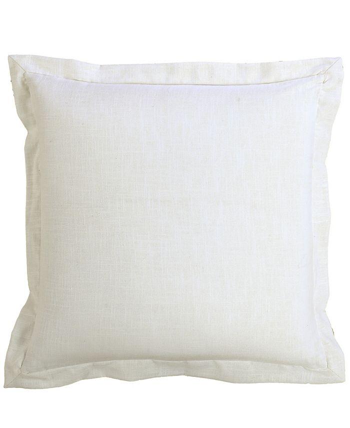 HiEnd Accents - White Linen Euro Sham, 27x27