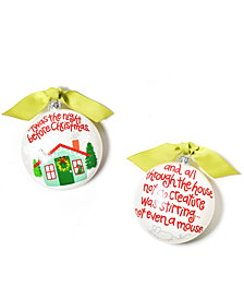 Coton Colors Twas The Night Before Christmas Glass Ornament
