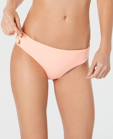 Roxy Juniors' Classics Grommet-Detail Bikini Bottoms