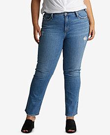 Silver Jeans Co. Plus Size Frisco Straight-Leg Jeans