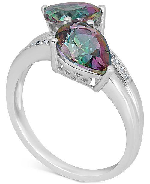 Macy's Mystic Quartz (3 ct. t.w.) & Diamond Accent Ring in 14k White Gold