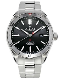 Alpina Men's Swiss Automatic Alpiner 4 Stainless Steel Bracelet Watch 44mm